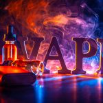 Popular vaping device mod. vape. vape smoke - Image