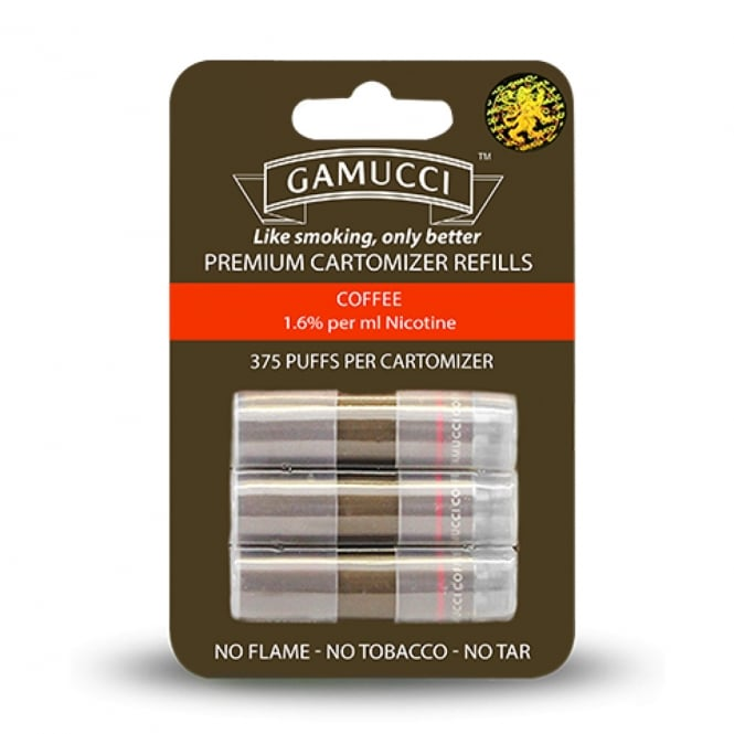 Gamucci E-Cigarette Cartomizer Refill Pack - Coffee Flavour