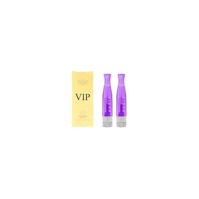 VIP E Cig H2 Clearomiser Replacement Twin-Pack - Purple