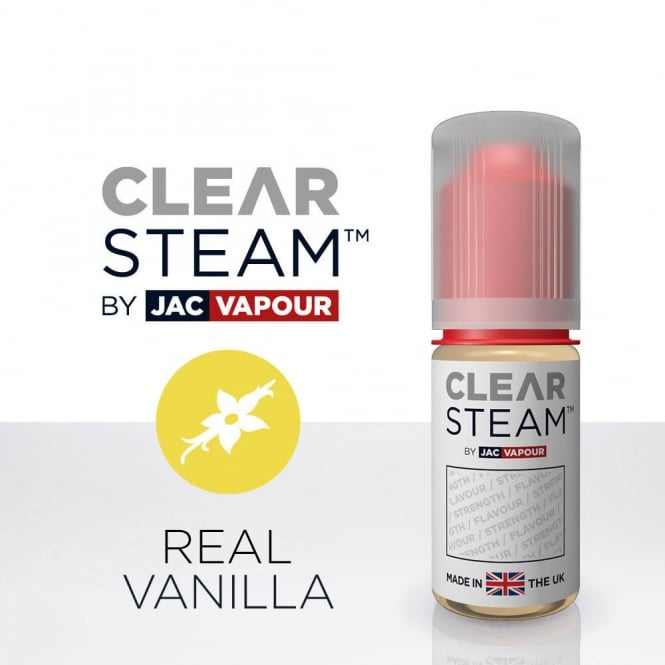 Jac Vapour Real Vanilla *Clear Steam* UK-Made 10ml E-Liquid