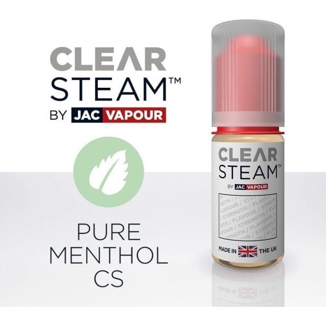 Jac Vapour Pure Menthol *Clear Steam* UK-Made 10ml E-Liquid