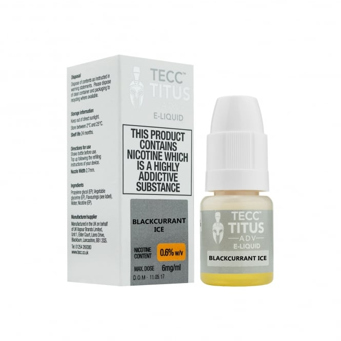 Titus ADV Blackcurrant Ice 10ml E-Liquid