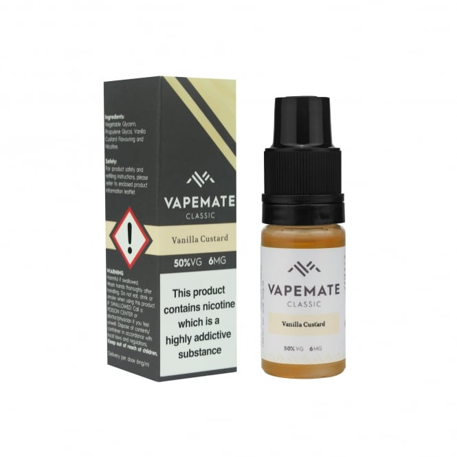 Vapemate Vanilla Custard 10ml E-Liquid