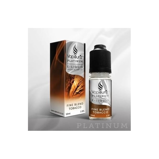 Vapouriz Platinum Fine Blend Tobacco 10ml E-Liquid