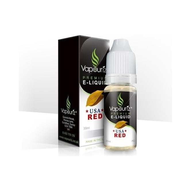 Vapouriz USA Red Tobacco 10ml E-Liquid